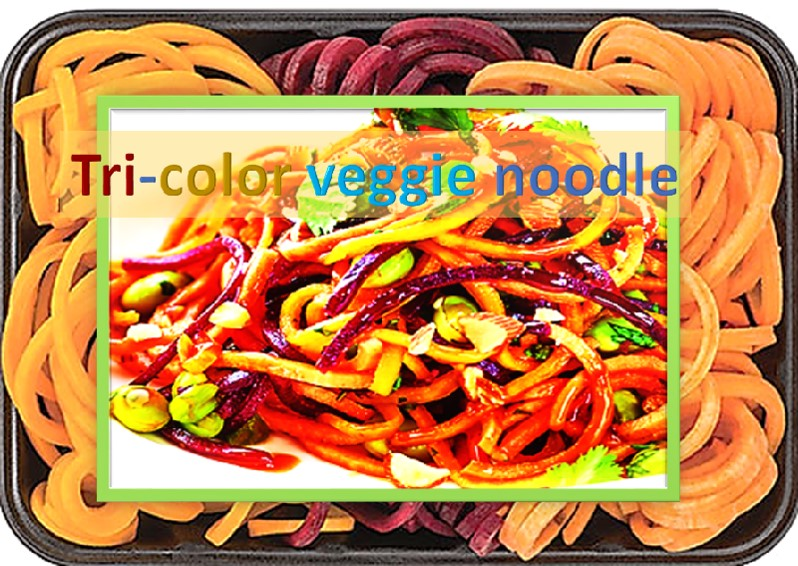 Tri-color Veggie noodle salad