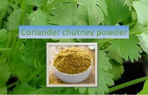 Coriander Chutney Powder