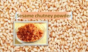 Sesame Chutney Powder