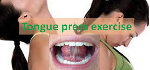 Tongue Press Exercise