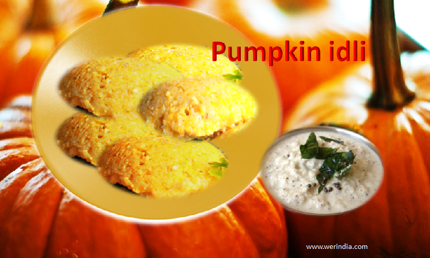 Sweet pumpkin Idli