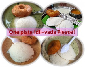 One plate Idli vada please