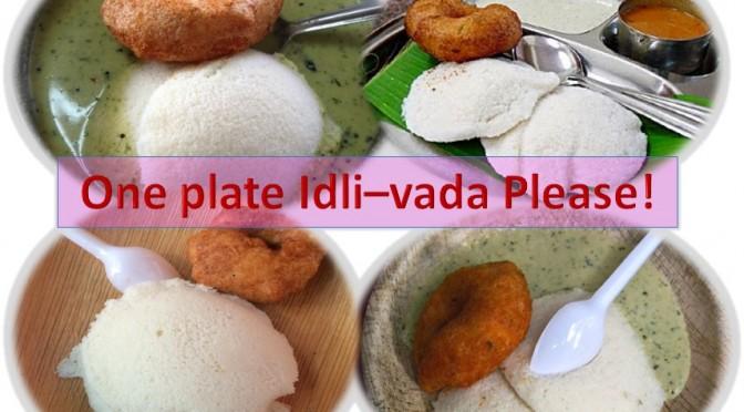 One plate Idli vada please
