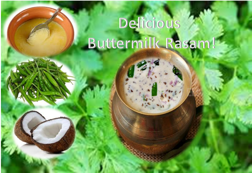Delicious and healthy buttermilk rasam