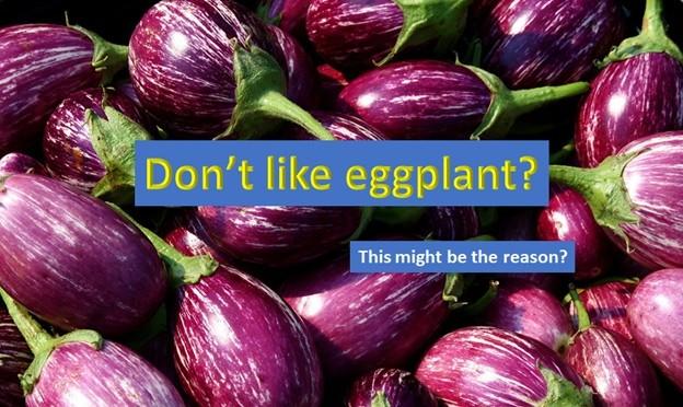 Why you don't like eggplant?