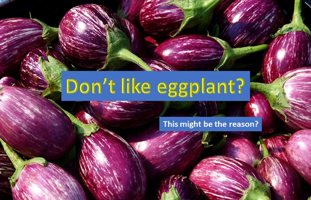 Why you don't like eggplant?
