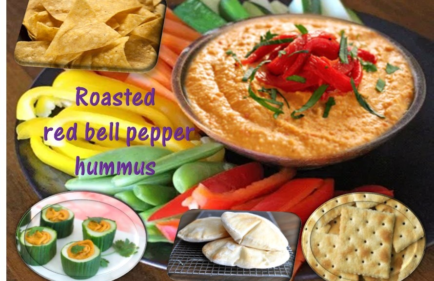 Roasted red bell pepper hummus healthylife werindia for Roasted red bell pepper hummus