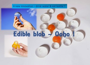 Edible blob, Water bottle that you can eat
