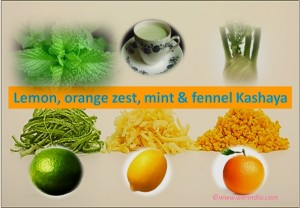 Lemon, Orange Zest, Mint & Fennel Kashaya