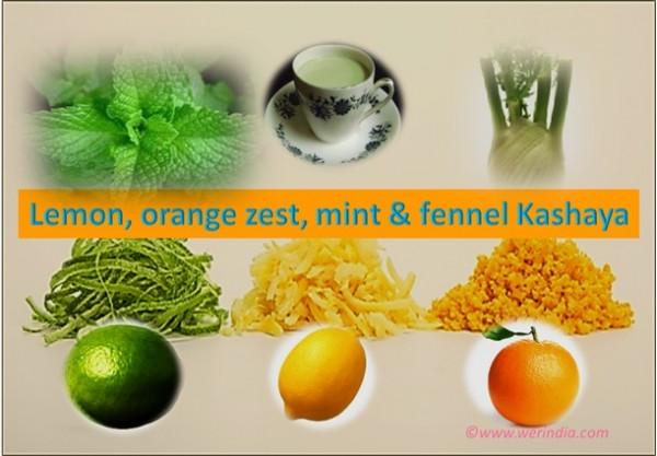 Lemon, Orange Zest, Mint & Fennel Kashaya