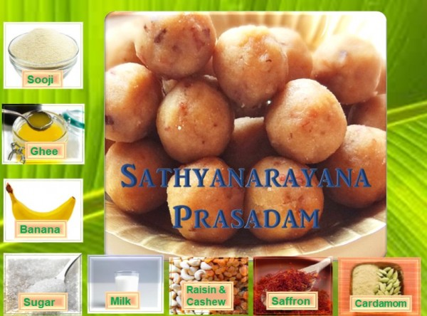 Recipe for Sathyanarayana Prasadam