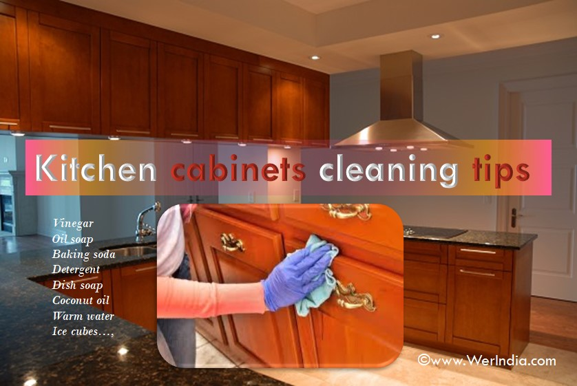 Tips to clean kitchen cabinets