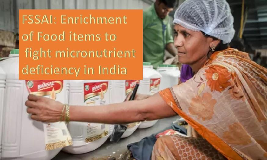 Food enrichment to combat micronutrient deficiency