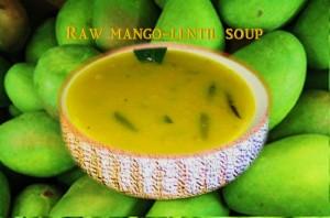 Raw Mango Lentil soup