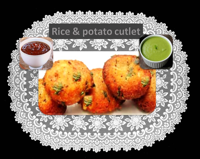 Potato and rice cutlet