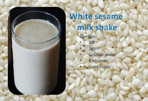 White sesame seeds milk shake