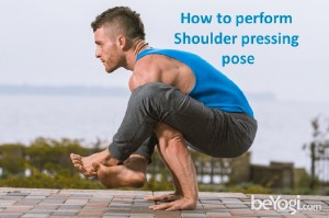 Shoulder pressing pose