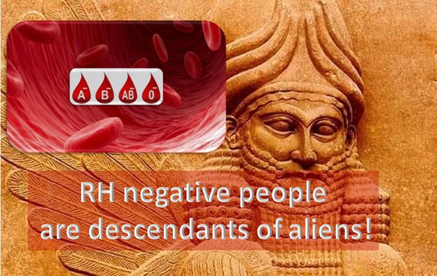 RH negative people are descendants of aliens