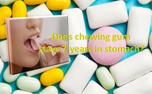 Swallowed chewing gum stays in stomach for 7 years