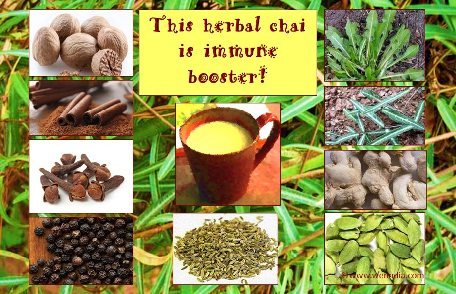 Reduce fatigue with this herbal chai