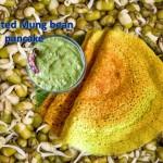 Sprouted mung bean pancake