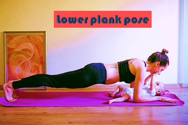 Lower Plank Pose or Chaturanga Dandasana