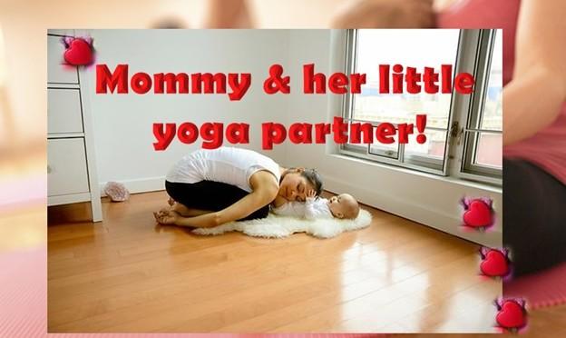 Mommy and Her Little Yoga Partner