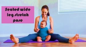 Seated Wide Leg Stretch Pose or Upavista konasana