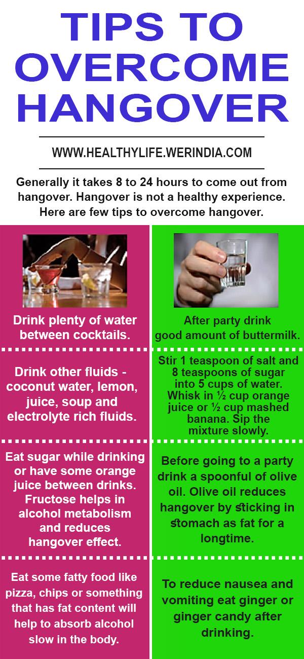 Tips to overcome hangover
