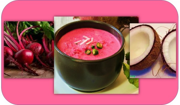Beetroot coconut soup