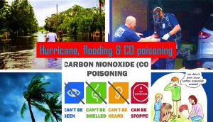 Hurricane, Flooding, carbon monoxide poisoning