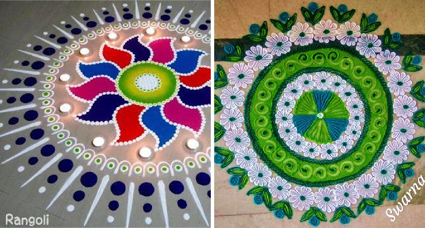 Traditional art Rangoli helps hands and mind