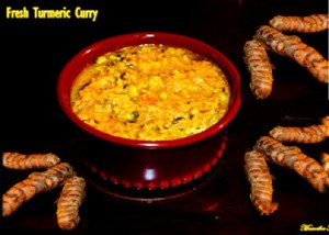 Fresh turmeric curry
