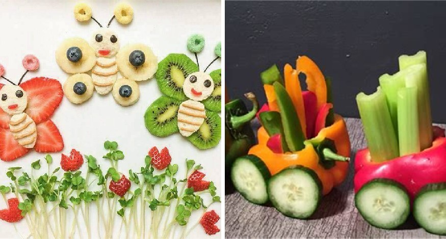 Fruits creativity for kids