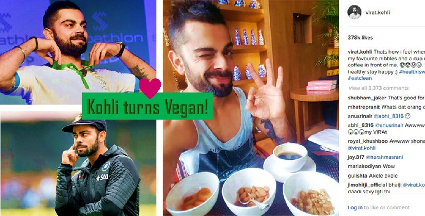 Virat Kohli is Vegan