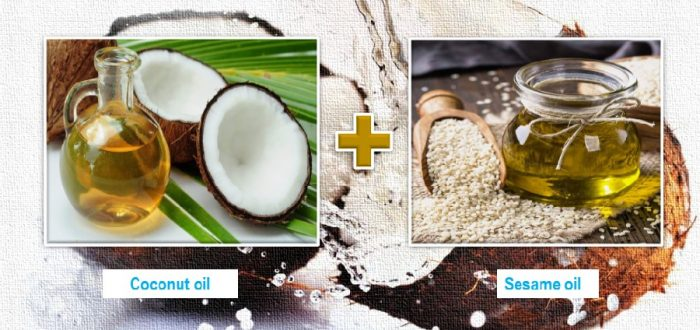 coconut oil and sesame oil for skin