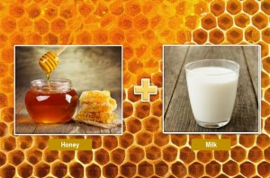 Honey and raw milk for skin
