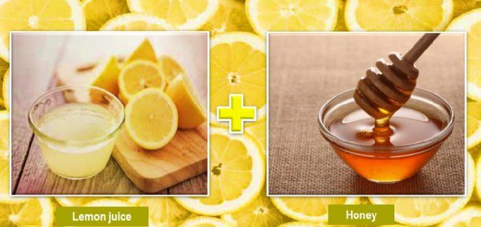 Lemon juice and honey for skin