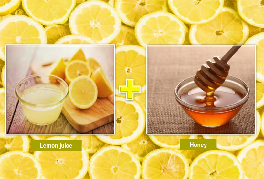 Lemon juice and honey for skin