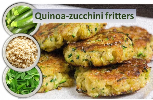 Quinoa Zucchini Fritters