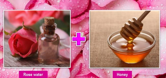 Rose water and honey for skin care