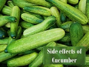 Side effect of cucumber