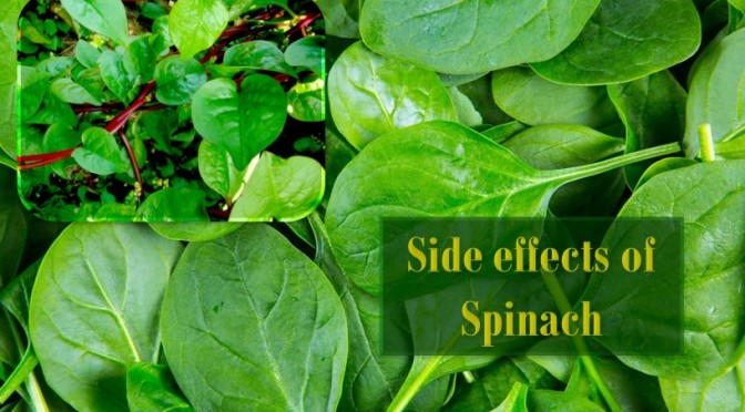 Side effect spinach