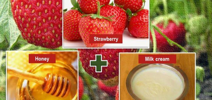 Strawberry, milk and honey