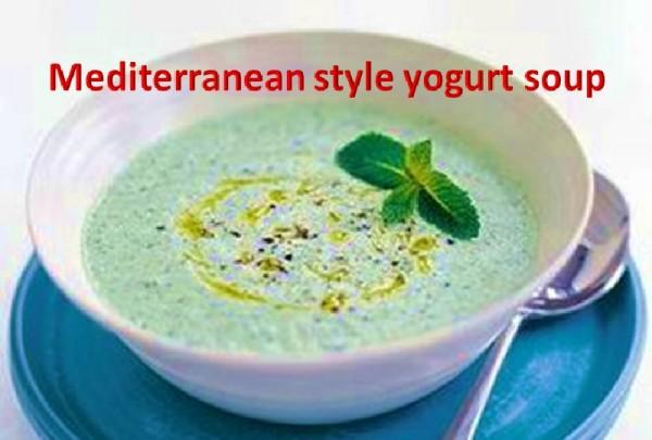 Mediterranean style yogurt soup