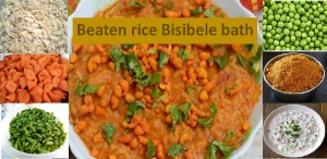Beaten rice bisibele bath