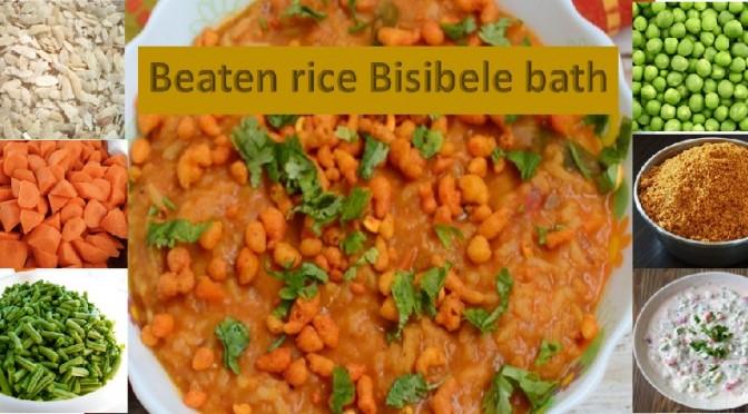 Beaten rice bisibele bath