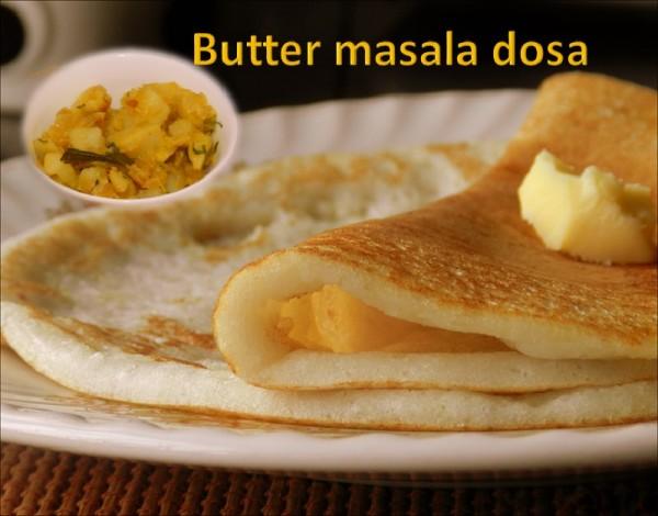 Butter masala dosa
