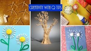 Q tips art for kids