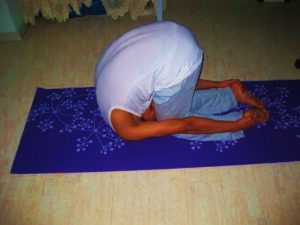 Rabbit pose Shashankaasana